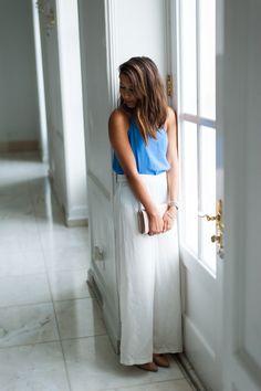 Dress Up Buttercup | Houston Fashion Blog - Dede Raad | Monday Wide Leg Blues