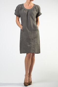 Holiday New Grey Linen Dress