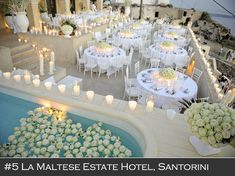 La Maltese Estate Hotel, Santorini, Greece #destinationwedding #weddinginsantorini