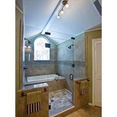 Tub In Shower Design Ideas, Pictures, Remodel, and Decor