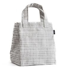 Woven Grey Lunch Tote