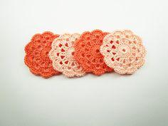 Mini CoastersCrochet Coaster Supplie Round Motif
