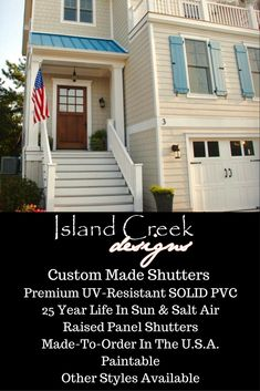 Bon Custom Exterior Vinyl Board U0026 Batten Shutters Painted Blue. . Caribbean  Shutters. Shutters For
