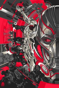Official Licensed screen prints for Marvel and HCG (HeroComplexGallery) Avengers Age of Ultron art showcase in L.A.