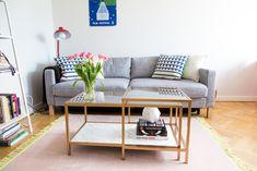 Gör ditt egna soffbord i guld och marmor av IKEAs bord Vittsjö. Ett enkelt  och c6fca9553ffa3