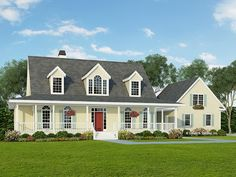 Farmhouse House Plan with 2188 Square Feet and 3 Bedrooms from Dream Home Source   House Plan Code DHSW01497