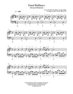 Good Riddance (Time of Your Life) by Green Day Piano Sheet Music | Advanced Level