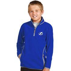 Tampa Bay Lightning Antigua Youth Ice 1/4 Zip Fleece Pullover Jacket - Blue - $35.99