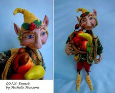 FENNEK One Of A Kind Clay Elf Forest Gnome Story telling