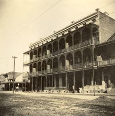 532-540 North Rampart Street, corner of Toulouse Street        Today called the Vieux Carre Rest House, in the late 1890s, these buildings housing female boarders stood across the street from what would soon become known as Storyville.