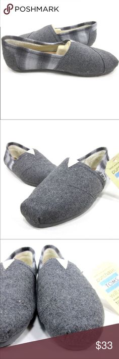 TOMS, CLASSICS, WOOL PLAID, GREY. NEW WITH BOX TOMS, CLASSICS, WOOL PLAID, MENS, GREY. NEW WITH BOX 📦 Toms Shoes