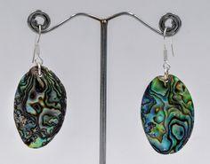 Abalone earrings, Boho chic bijoux, Nacre earrings, mother pearl earrings, Romantic jewelry, Bohemian earrings, Gifts for her by wikandah on Etsy