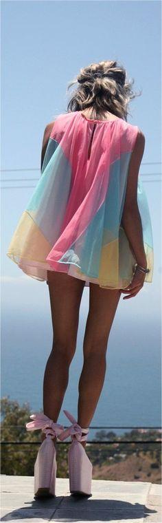 Street fashion: ♥ pastels dress - Les Cachotières