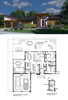 8 cliff may inspired ranch house plans from for 1250 sq ft bungalow house plans