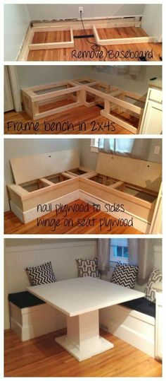 Ana White DIY Breakfast Nook with Storage DIY Projects diy_storage_table Living Room On A Budget, Small Living Rooms, Dining Room Ideas On A Budget, House Ideas On A Budget, Small Kitchen Ideas On A Budget, Ideas For Small Homes, Diy On A Budget Home Decor, Modern Living, Cheap Diy Home Decor
