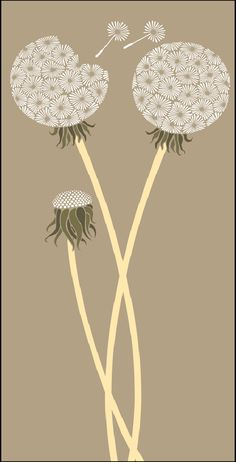 "SL LTL4 Dandelion, standard, 52 x 12"" $74.08 SL LTL4-L 68 x 16"" Large $82.76 Purchase from www.stencilwerks.com, US Distributor of The Stencil Library designs"