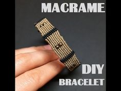 Macrame Colar, Macrame Bracelet Tutorial, Macrame Knots, Macrame Jewelry, Loom Bracelets, Macrame Bracelets, Bracelets For Men, Bracelet Making, Man Bracelet