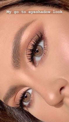 Gold Eye Makeup, Makeup Eye Looks, Soft Makeup, Natural Eyes, Natural Makeup Looks, Pretty Makeup, Eyeshadow Makeup, Makeup Brushes, Natural Women
