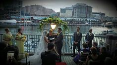 Backdrop for tonight's wedding at L'Aqua, Cockle Bay on Sydney's famous Darling Harbour.