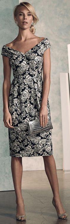 Kay Unger Cap Sleeve Cocktail Dress
