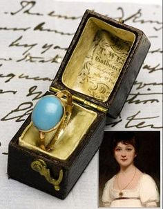 jane austen not really contemporary jewellery but the ring of Jane Austen