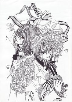 anime vampire knight coloring pages - photo#22