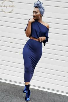 Blue Velvet Headwrap: @wrapqns use discount code: keke Two piece set: @shoptaylorjay use discount code: kekecam Velvet booties: @lolashoetique Fashion Look by KeKe Cameron