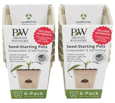 Proven Winners® Eco-Pots look and feel like plastic but are made out of natural and compostable materials so that they're landfill-free! Plants nutrients are built directly into the pot for effortless feeding. Find out more about these eco-friendly, self-feeding starter pots and the full Proven Harvest seed collection by clicking on the link tree in our bio. #ecopots #provenwinners #compostablepots #gardenanswers #mygardenanswers #thegardenshop Bush Beans, Herb Planters, Proven Winners, Plant Identification, 6 Pack, Free Plants, Garden Shop, Seed Packets, Annual Plants