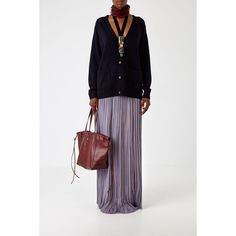 Lanvin Lanvin Pleated Skirt (13.085 BRL) ❤ liked on Polyvore featuring skirts, violet, knee length pleated skirt, flounce skirt, frilly skirts, pleated skirt and white ruffle skirt