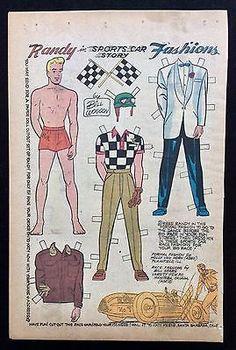 Katy-Keene-Comic-Book-Paper-Dolls-Bill-Woggon-Art-Randy-Sports-Car-Fashions
