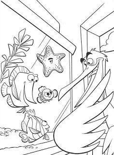 Muitos Desenhos De Procurando Nemo Para Pintar Colorir Imprimir