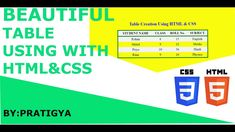this is Pratigya welcome to my channel About this video ___________________ In this video I have created a beautiful table using with HTML , CSS. Css Table, 12th Maths, Html Css, Science And Technology, Physics, Periodic Table, Names, Student, Beautiful