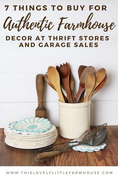 Finding Authentic Farmhouse Decor at Thrift Stores and Garage Sales - This Lovely Little Farmhouse Antique Farmhouse, Rustic Farmhouse Decor, Farmhouse Style Decorating, Farmhouse Furniture, Country Farmhouse, Diy Home Decor On A Budget, Kitchen On A Budget, Garage Sale Finds, Antique Decor