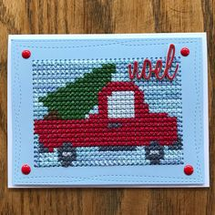 Old Red Truck. This one is a favorite of mine. I used the Paper Smooches die, MFT Wonky rectangles, and Tim Holtz Holiday word dies. Some…