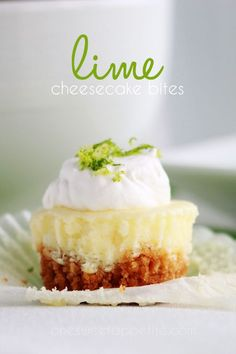 Lime cheesecake bites. Add some spring flavors to your treats.