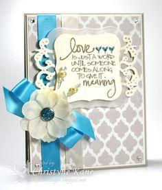 Card by Christyne Kane using Stronger Love from Verve.  #vervestamps