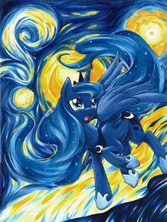 Luna's Starry Night by *Muffyn-Man on deviantART