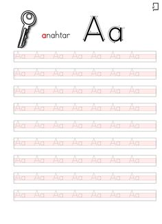 Kindergarten Math Activities, Homeschool Math, Preschool Learning, Kindergarten Worksheets, Worksheets For Kids, Teaching, Printable Handwriting Worksheets, Alphabet Worksheets, Alphabet Writing