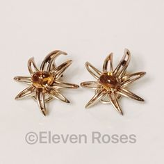 Tiffany & Co. Citrine Fireworks Earrings Tiffany & Co. Fireworks Earrings -  Citrine Cabochon Gemstones - 925 Sterling Silver - Hallmarked; Tiffany & Co., Fireworks, 925 - French Clips (no post) - Beautiful, Vintage Condition Tiffany & Co. Jewelry Earrings