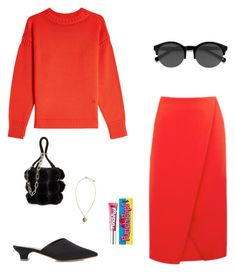 """""""Untitled #51"""" by peterpan130395 ❤ liked on Polyvore featuring Victoria Beckham, Warehouse, Mansur Gavriel, Alexander Wang, Versus, EyeBuyDirect.com and Benefit"""