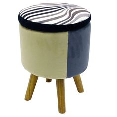 House Additions Zebra Storage Ottoman