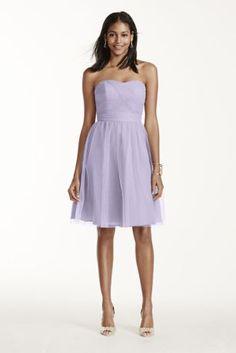 A pretty, soft purple bridesmaid dress in our exclusive Iris!
