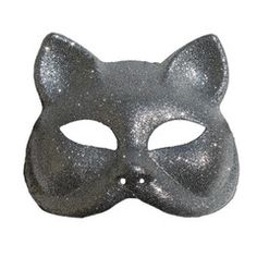 Glitter Cat Masquerade Mask In Silver | Simply Party Supplies