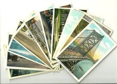 Old philadelphia postcards perfect for wedding gift bag guest notes