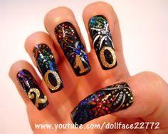 Happy New Year! by Dollface22772 - Nail Art Gallery nailartgallery.nailsmag.com by Nails Magazine www.nailsmag.com