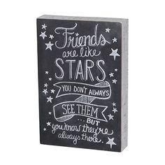 Friends Like Stars - Chalk Sign #InspirationalQuotes #FriendsLikeFamily https://www.davlinswoods.com/