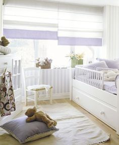 Lavender is so pretty for a baby girl's nursery