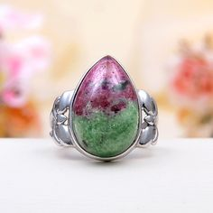 Anyolite With Ruby Ring