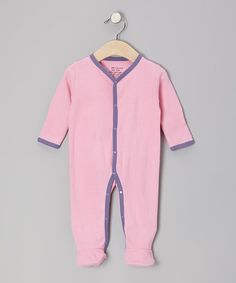 Take a look at this Pink & Purple Organic Footie - Infant by Max + Ella on #zulily today!