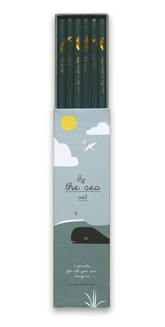Cute illustrated pencils by Pleased to Meet Tea Packaging, Brand Packaging, Bleistift Design, Pencil Design, Happy Birthday, Cute Notebooks, Tea Art, Bottle Design, Packaging Design Inspiration